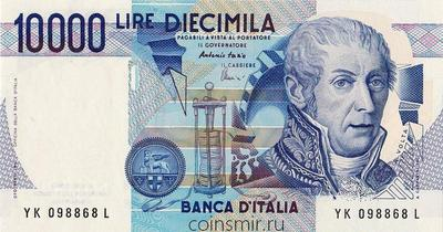 10000 лир 1984 Италия. Подписи: Fazio & Amici. Pick # 112d
