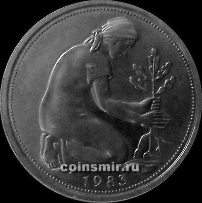 50 пфеннигов 1983 F ФРГ. Пруф.
