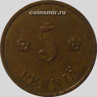 5 пенни 1938 Финляндия.