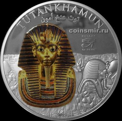 1 доллар 2012 Острова Кука. История Египта. Тутанхамон.