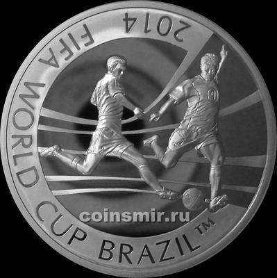 100 тенге 2014 Казахстан. Чемпионат мира по футболу 2014 в Бразилии.