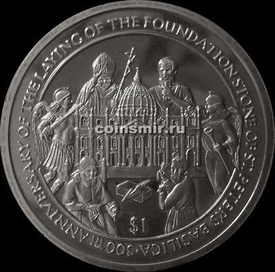 1 доллар 2006 Сьерра-Леоне. 500-летие основания собора Святого Петра.