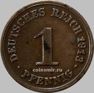 1 пфенниг 1913 F Германия.