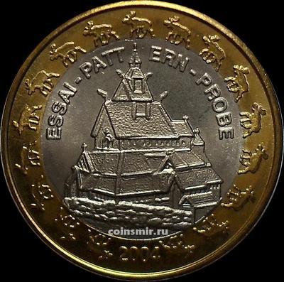 1 евро 2004 Норвегия. Европроба. Ceros.