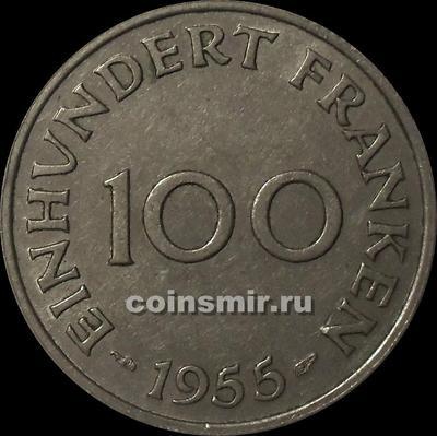 100 франков 1955 Саарленд.
