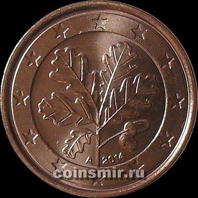 1 евроцент 2014 А Германия.
