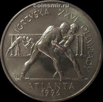 2 злотых 1995 Польша. Олимпиада в Атланте 1996.
