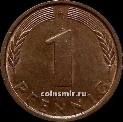 1 пфенниг 1991 А Германия ФРГ.