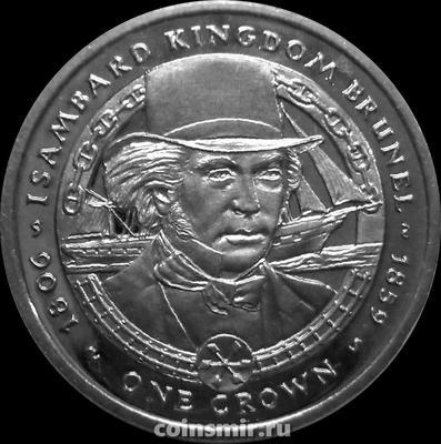 1 крона 2006 Фолклендские острова. Изамбард Кингдом Брюнель.