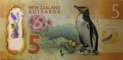 5 долларов 2015 Новая Зеландия.