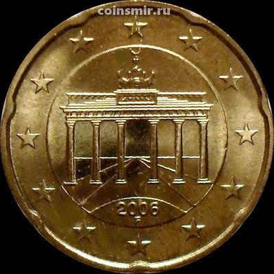 20 евроцентов 2006 F Германия. Бранденбургские ворота.