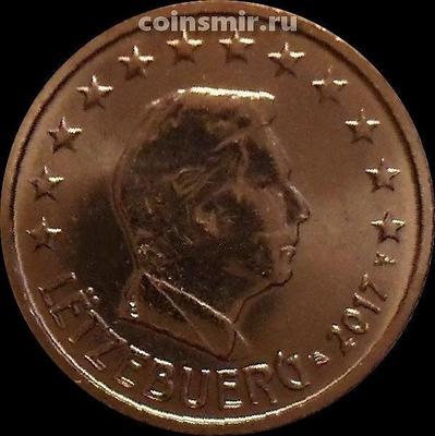 2 евроцента 2017 Люксембург. Великий герцог Люксембурга Анри.