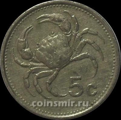 5 центов 1986 Мальта.