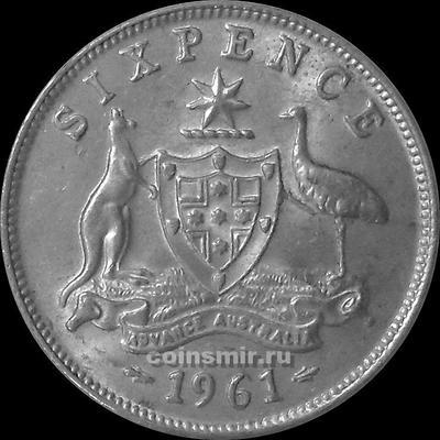 6 пенсов 1961 Австралия.