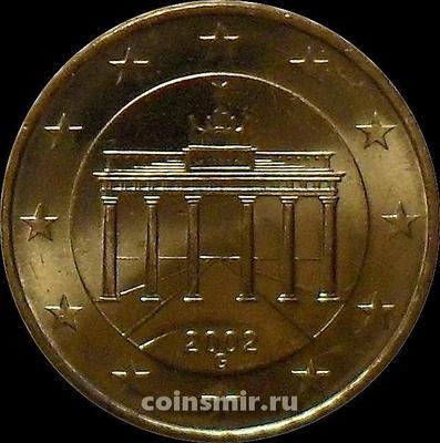 10 евроцентов 2002 G Германия. Бранденбургские ворота. UNC