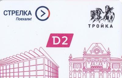 Карта Тройка - Стрелка 2019. Запуск МЦД. D2. Курский и Рижский  вокзалы.
