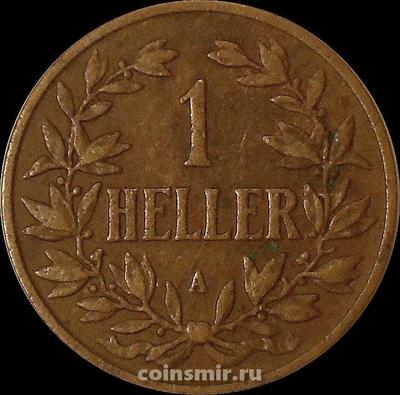 1 геллер 1904 А Германская Восточная Африка.