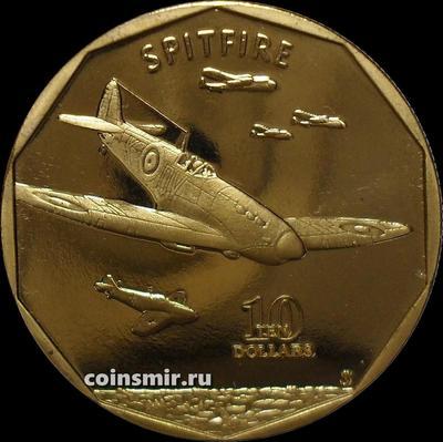 10 долларов 1991 Маршалловы острова. Британский истребитель Supermarine Spitfire.