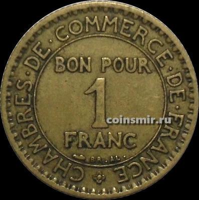 1 франк 1921 Франция.