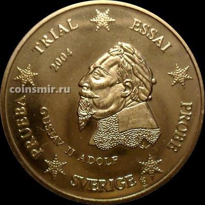 50 евроцентов 2004 Швеция. Европроба. Specimen. Король Густав II Адольф.