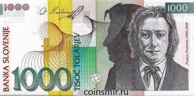 1000 толаров 2005 Словения.