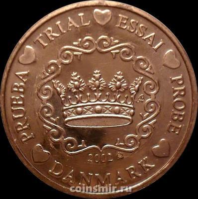 5 евроцентов 2002 Дания. Европроба. Specimen.