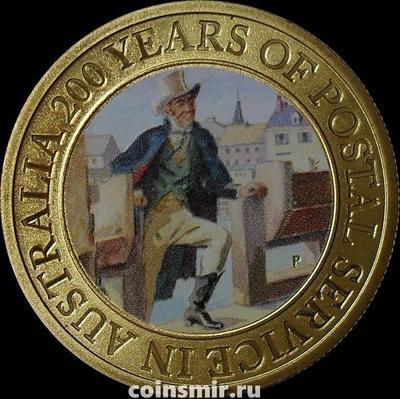 1 доллар 2009 Австралия. 200 лет почтовой службе Австралии.