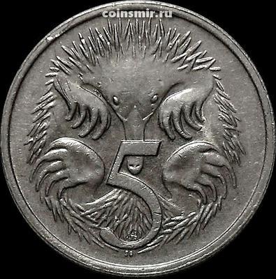 5 центов 1983 Австралия. Ехидна.