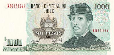 1000 песо 2006 Чили.