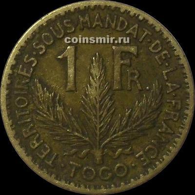 1 франк 1924 французское Того.