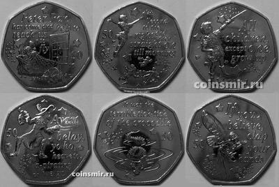 Набор из 6 монет 2019 Великобритания. Питер Пэн.