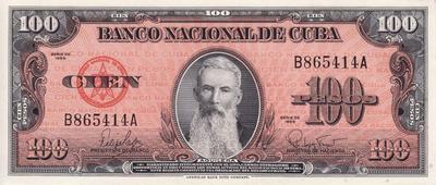 100 песо 1959 Куба.