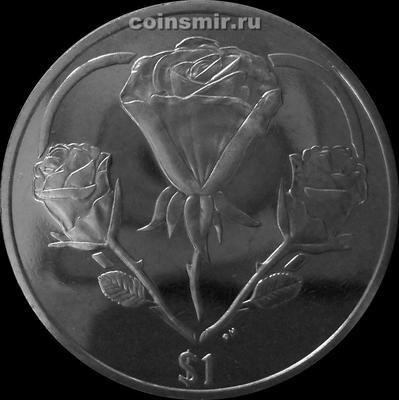 1 доллар 2015 Британские Виргинские острова. Розы.