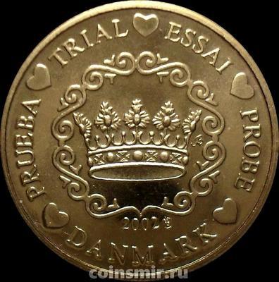 10 евроцентов 2002 Дания. Европроба. Specimen.