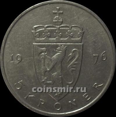 5 крон 1976 Норвегия.