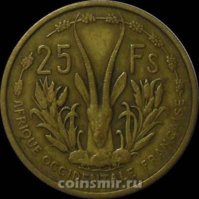 25 франков 1956  Французская Западная Африка.