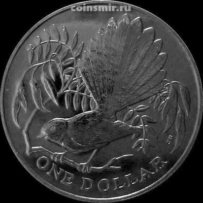 1 доллар 1980 Новая Зеландия. Веерохвостка.