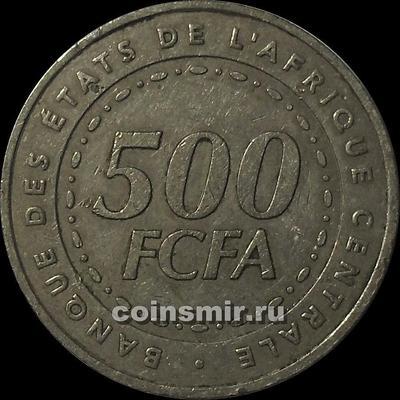 500 франков 2006  КФА BEAC (Центральная Африка).