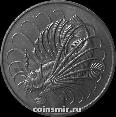 50 центов 1982 Сингапур. Рыба-лев.