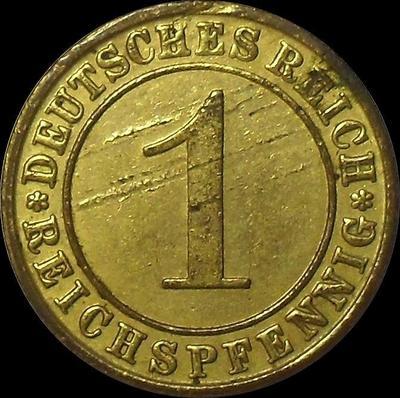 1 пфенниг 1931 F Германия. REICHSPFENNIG