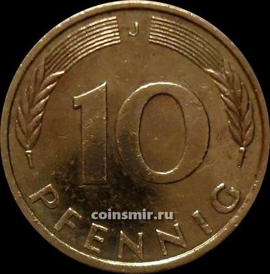 10 пфеннигов 1987 J Германия ФРГ.