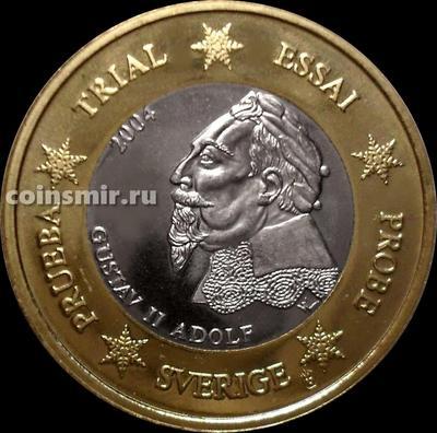 1 евро 2004 Швеция. Европроба. Specimen. Король Густав II Адольф.