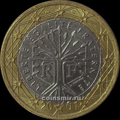 1 евро 2001 Франция.