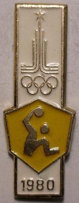 Значок Гандбол. Олимпиада 1980 в Москве. Игрок.