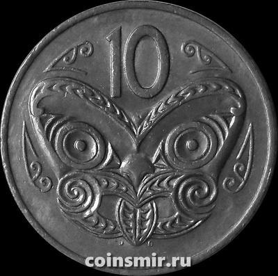 10 центов 1971 Новая Зеландия. Маска Маори.