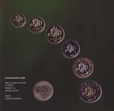 Набор монет 2011 Литва. Буклет.