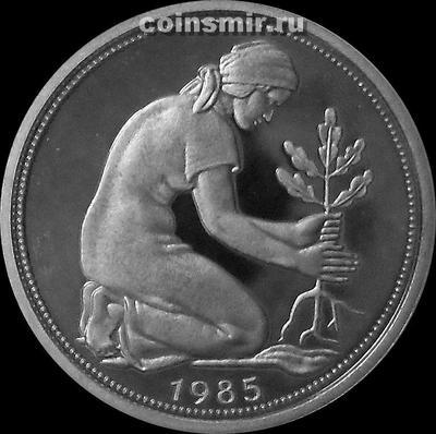 50 пфеннигов 1985 J Германия ФРГ. Пруф.