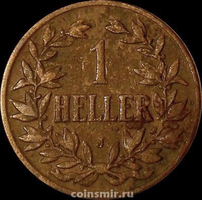 1 геллер 1908 J Германская Восточная Африка.