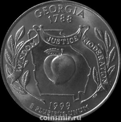 25 центов 1999 D США. Джорджия.