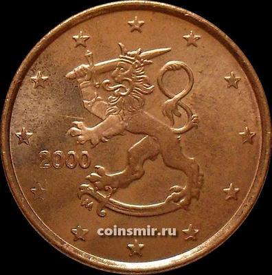 5 евроцентов 2000 М Финляндия.